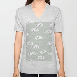 Sweet abstract clouds pastel Scandinavian style pattern Unisex V-Neck
