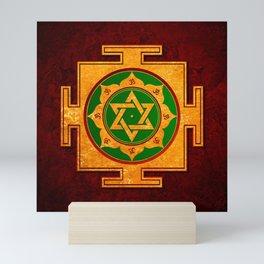 Saraswati Yantra Red Mini Art Print
