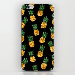 Pineapple Black iPhone Skin