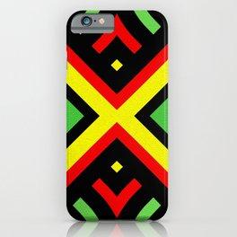 Jah Sun Always Rise Irie Reggae Mandala iPhone Case