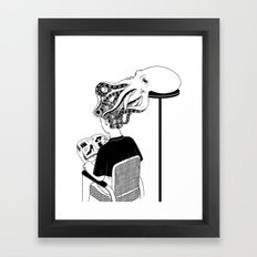 Octopus Salon Framed Art Print