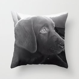 Labrador Puppy Portrait Throw Pillow