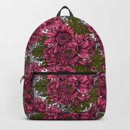 Pink chrysanthemum flowers  Backpack
