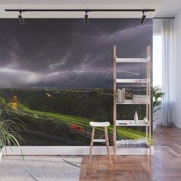 Summer Storm Over Brisbane Wall Mural
