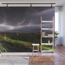Summer Storm Over Brisbane Wall Mural