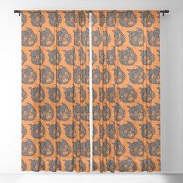 Black Cat Sheer Curtain