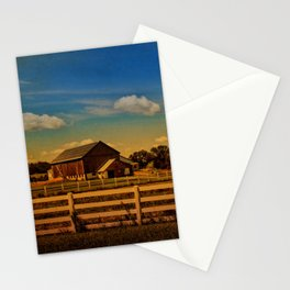 Sunset Over the Farm Stationery Cards