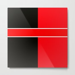 Team Colors 6...red,black,white Metal Print
