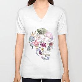 Hibiscus Skull Unisex V-Neck