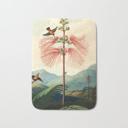 Large flowering sensitive plant. Bath Mat
