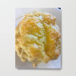 Cheese Scone Metal Print