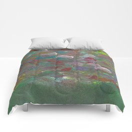 Abstract Flowers (Oil Paint) Comforters