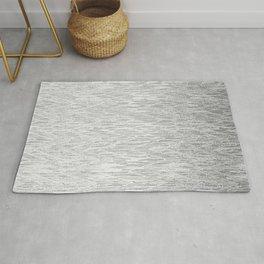 Chevron Ikat Silver Ombre Glitter Pattern Rug