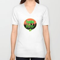planes V-neck T-shirts featuring Planes & Jane's by Chefleclef