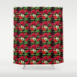 Juicy Fruit Stripe Shower Curtain
