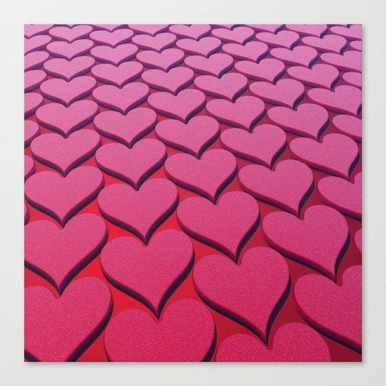 Textured 3D Heart Pattern Canvas Print