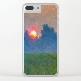 Morning Meadow Clear iPhone Case