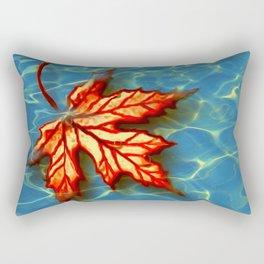 Wet Maple Leaf Rectangular Pillow