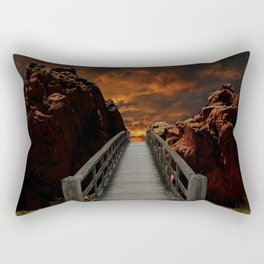 Meeting with God Rectangular Pillow