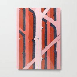Mono Pattern   The Rosewood Metal Print