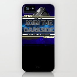 Come to the Darkside, The Coffee Wars, Jeronimo Rubio, Photography, Art 2016 iPhone Case