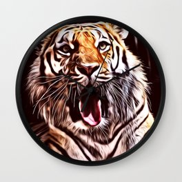 Painted Tiger 9 Wall Clock