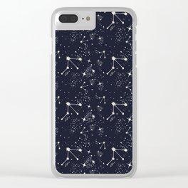 Zodiac Constellations - Libra Clear iPhone Case