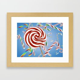 Lollipop candy Framed Art Print