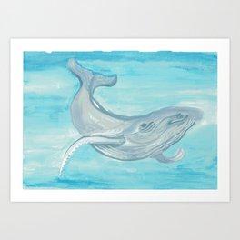 Blue Whale Art Print