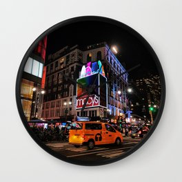 New York by night Wall Clock