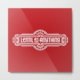Lentil as Anything - Red Metal Print