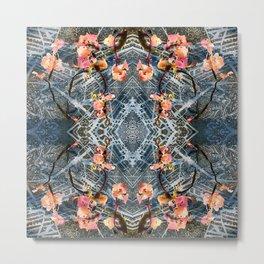 Web of Blossoms Metal Print