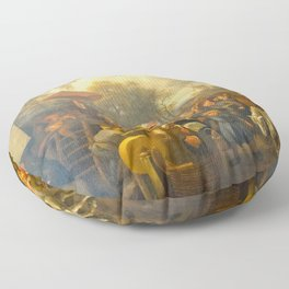 Jan Steen - The Quack Floor Pillow