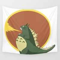 kaiju Wall Tapestries featuring Most Feared Kaiju by Madison Apple