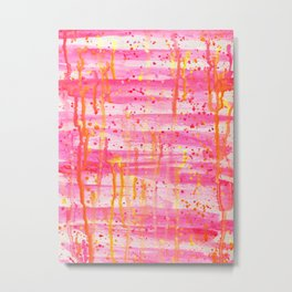 Confetti Abstract High Flow Acrylic Painting Metal Print