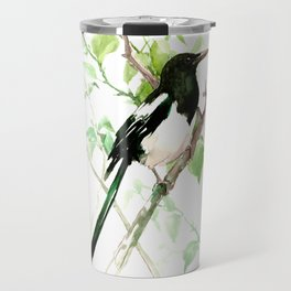 Magpie Bird, magpie Travel Mug