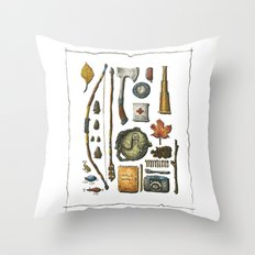 Little Camper Series No. 1 Throw Pillow