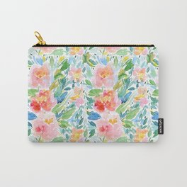 Busy Watercolour Floral Carry-All Pouch