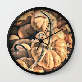 Autumn Grunge Wall Clock