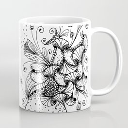 Floral Abstract Ink Art Coffee Mug