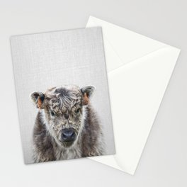 Fluffy Cow - Colorful Stationery Cards