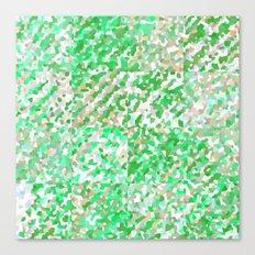 Green & Orange Delight (Squares) Canvas Print