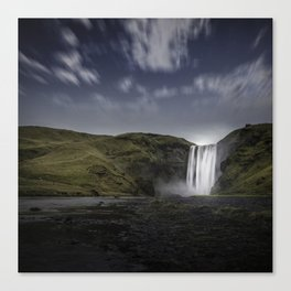 Skógafoss Waterfall Iceland Canvas Print