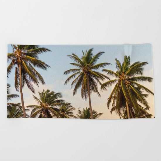 Chilling Palm Trees Beach Towel