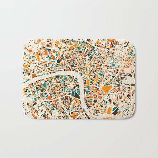 Paris mosaic map #3 Bath Mat
