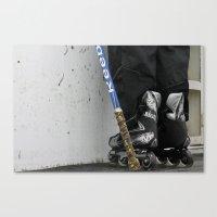 hockey Canvas Prints featuring hockey by Amanda Lee Design