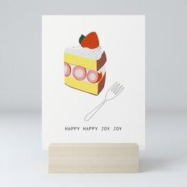 Strawberry Cake Slice Mini Art Print
