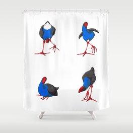 Kooky Pukekos Shower Curtain
