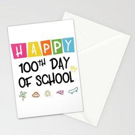 Happy 100th Day Of School Funny Emoji Stationery Cards