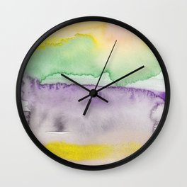 16   | Abstract Minimal Watercolor Painting | 191222 Wall Clock